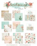 Birdsong paper set ,12 pcs