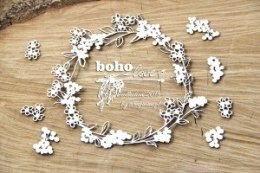 Laser cut chipboard - round frame - Boho Love - wreath with flowers