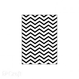 FOLDER DO EMBOSSINGU 2D, CHEVRON, 13 CM X 18 CM