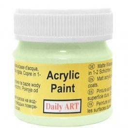 Farba akrylowa, 305 light green - jasnozielona, 50 ml