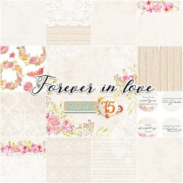 Forever in love 6x6 paper set