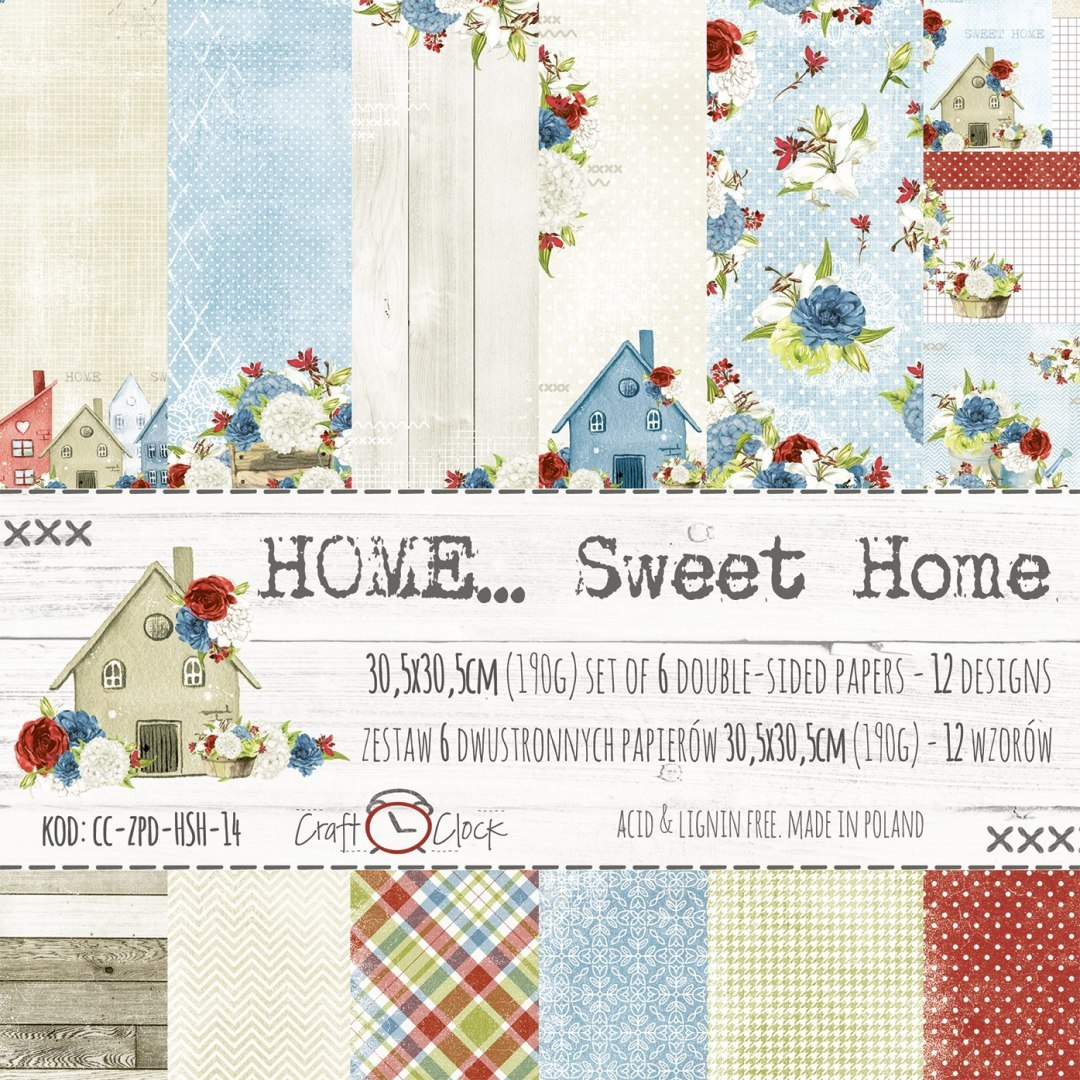 Home... sweet home - set of papers 30,5x30,5cm