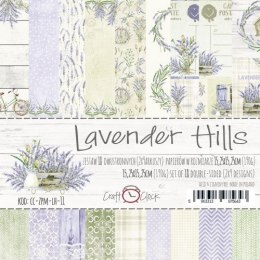 LAVENDER HILLS - a set of papers 15,25x15,25cm