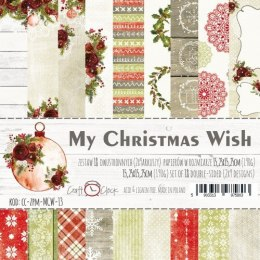 MY CHRISTMAS WISH - a set of papers 15,25x15,25cm