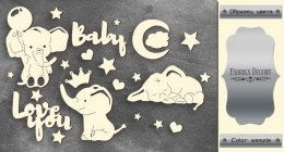 "Silver chipboards set ""My little baby boy-1"", Fabrika Decoru"