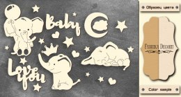 "Chipboards set ""My little baby boy-1"", Fabrika Decoru"