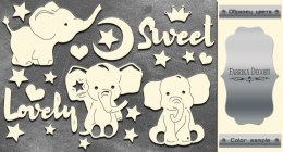 "Silver chipboards set ""My little baby boy-2"", Fabrika Decoru"