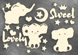 "Chipboards set ""My little baby boy-2"", Fabrika Decoru"