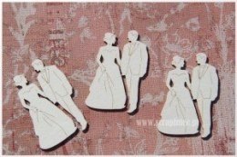 Laser cut chiboard - Bridegroom - 3 pack - Scrapiniec