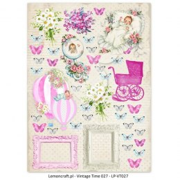 One-sided scrapbooking paper - Vintage Time 027