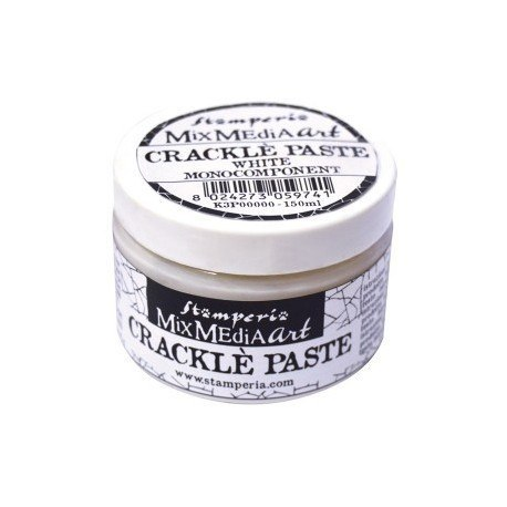White monocomponent crackle paste/150ml/Stamperia