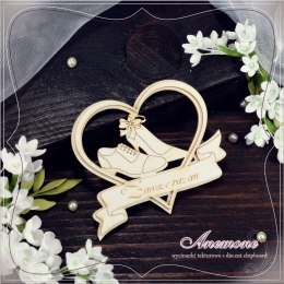 Laser cut chipboard - Wedding - heart frame - Anemone
