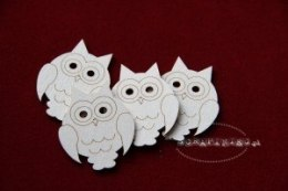 Set of owls - 4 pcs