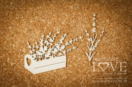 Chipboard - Box with lavender - Sweet Lavender