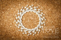 Chipboard - Wreath - Sweet Lavender