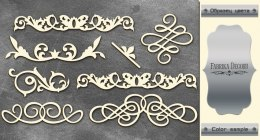 "Silver chipboards set ""Monograms 1"", Fabrika Decoru"