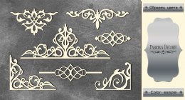 "Silver chipboards set ""Monograms 2"", Fabrika Decoru"