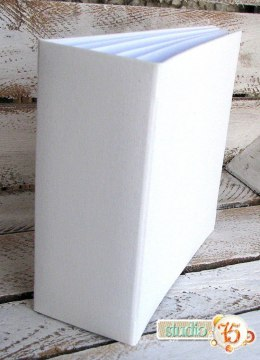 16x16cm Hidden hinge album, white, 8 cards