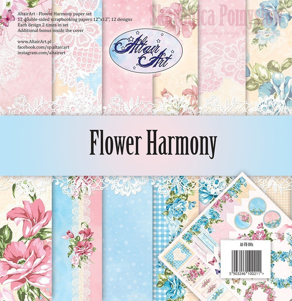 AltairArt - Flower Harmony - set of papers