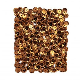 METALLIC SEQUINS 9 MM, 15 G - COPPER