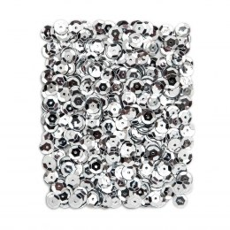 METALLIC SEQUINS 9 MM, 15 G - SILVER