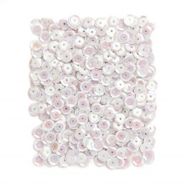 OPALESCENT SEQUINS 9 MM, 15 G - PEARL