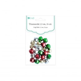 CRAFT BELLS 1,5 CM, 24 PCS
