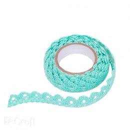ADHESIVE COTTON LACE 1,8 M - MINT