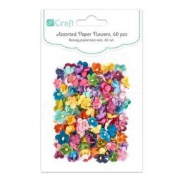 Assorted paper flowers, 60 pcs