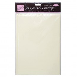 A4 Card and Envelope - Cream