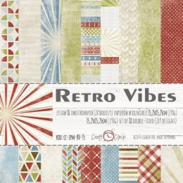 RETRO VIBES - a set of papers 15,25x15,25cm