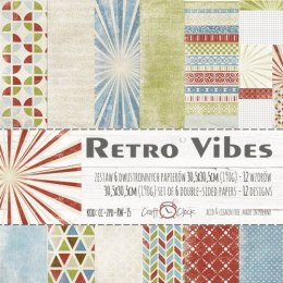 RETRO VIBES - a set of papers 30,5x30,5cm