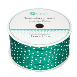GROSGRAIN RIBBON, 1CM X 20M - GREEN