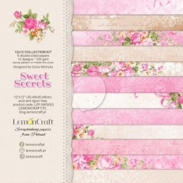 Set of scrapbooking papers - Sweet Secrets