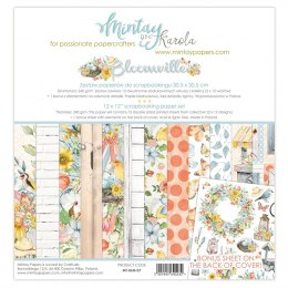 Bloomville paper set ,12 pcs