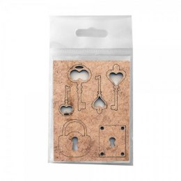 Dekory HDF, Die-Cut Locks & Keys Set - small