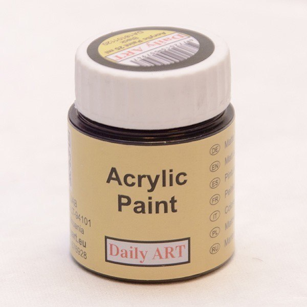 Acrylic Paint, black, 25 ml