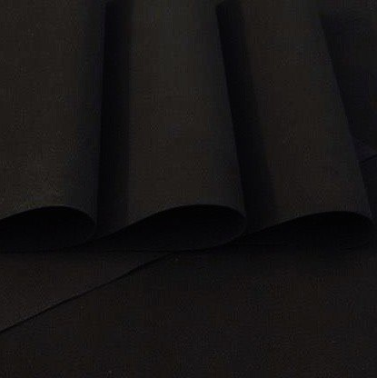 Foamiran 0,6 mm,60 x 70 cm, black, TO ORDER