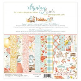 Scrapbooking paper set - Kiddie - Mintay Papers -12 pcs