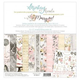 Marry me ! paper set ,12 pcs