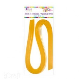 QUILLING STRIPS 6 MM - YELLOW, 100 PCS