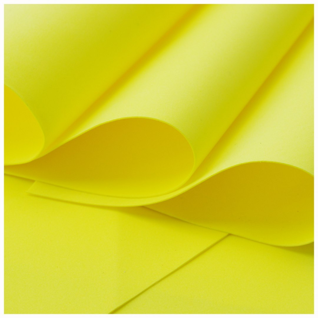 Foamiran 0,6 mm 60 x 70 cm, yellow, ON ORDER