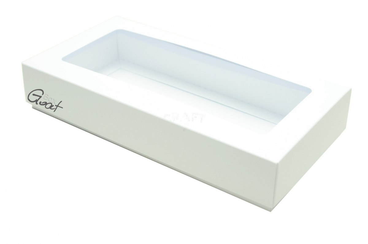 DL white box open. rectangle 22x11x2,5cm