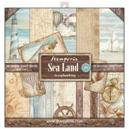 STAMPERIA-SET OF PAPERS 30x30cm SEA LAND