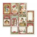 STAMPERIA-SET OF PAPERS 30x30cm VINTAGE CHRISTM