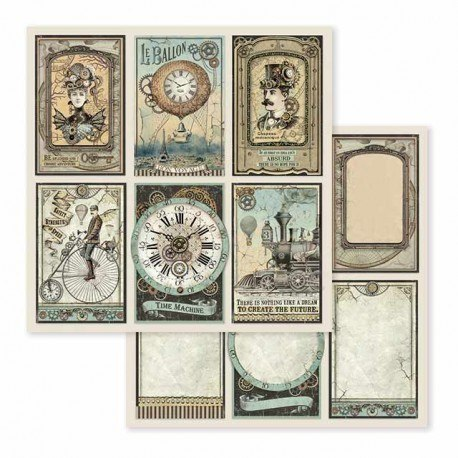 STAMPERIA-SET OF PAPERS 30x30cm VOYAGES FANTASTIQUES
