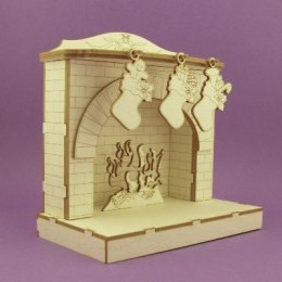Chipboard- 3D fireplace
