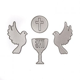 CUTTING DIES - HOLY COMMUNION, 4 PCS