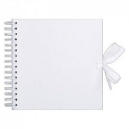 30,5 CM X 30,5 CM SCRAPBOOK - PAPERMANIA - WHITE (40 PAGES)