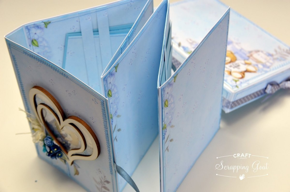 Base photo album 15,5x20,5cm harmonica White GoatBox